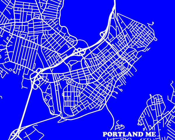 Road Map Photograph - Portland Maine City Map Streets Art Print   by Keith Webber Jr