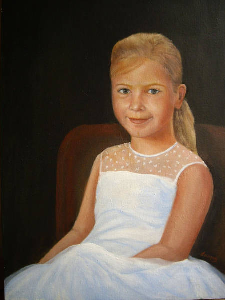 Painting - Portrait Of A Girl by Katalin Luczay