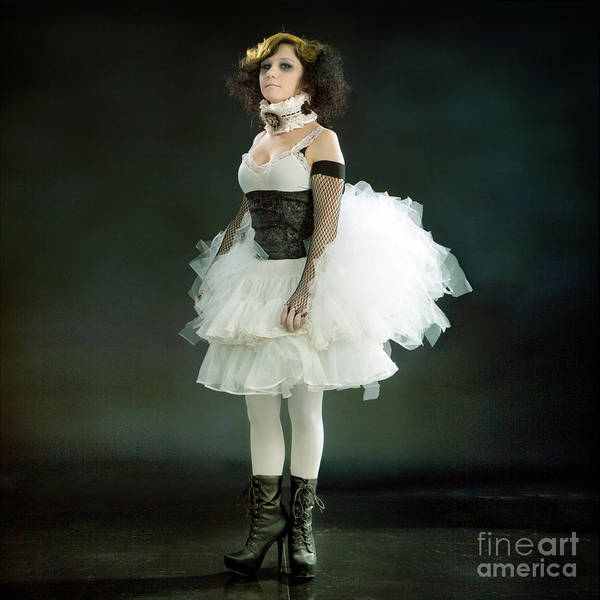 Burlesque Dancer Photograph - Portrait Of A Vintage Dancer Series by Cindy Singleton