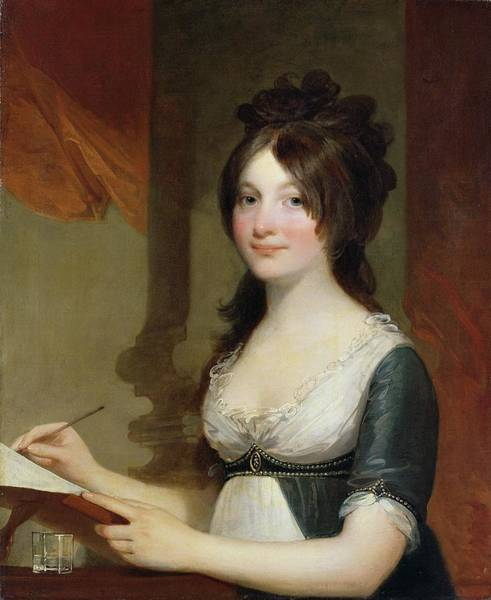 Line Drawing Painting - Portrait Of A Young Woman by Gilbert Stuart
