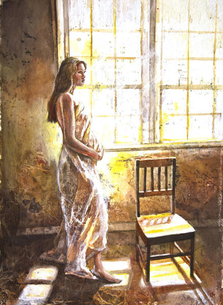 Pregnancy Painting - Portrait Of A Young Woman by Patricia Allingham Carlson