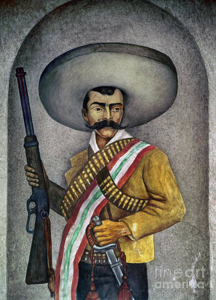 Photograph - Portrait Of A Zapatista by Granger