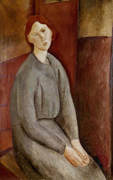 Wall Art - Painting - Portrait Of Annie Bjarne by Amedeo Modigliani