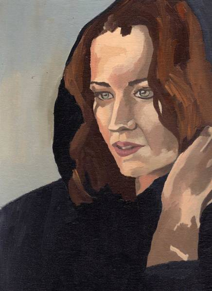 Painting - Portrait Of Becca 2 by Stephen Panoushek