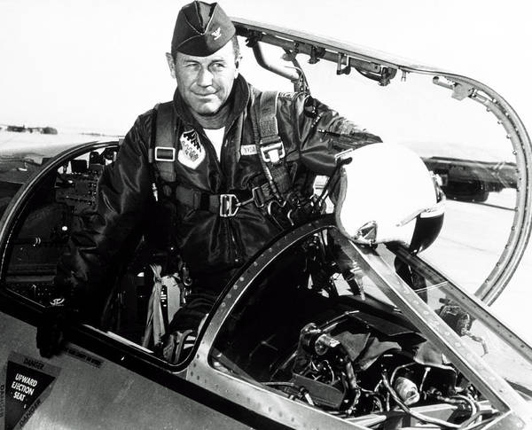Wall Art - Photograph - Portrait Of Charles Chuck Yeager, American Pilot by Nasa