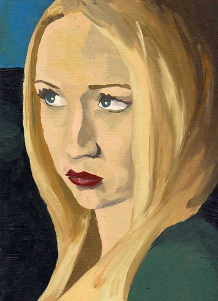 Painting - Portrait Of Emily by Stephen Panoushek