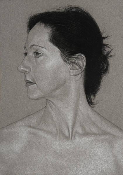 Drawing - Portrait Of K by David Kleinsasser