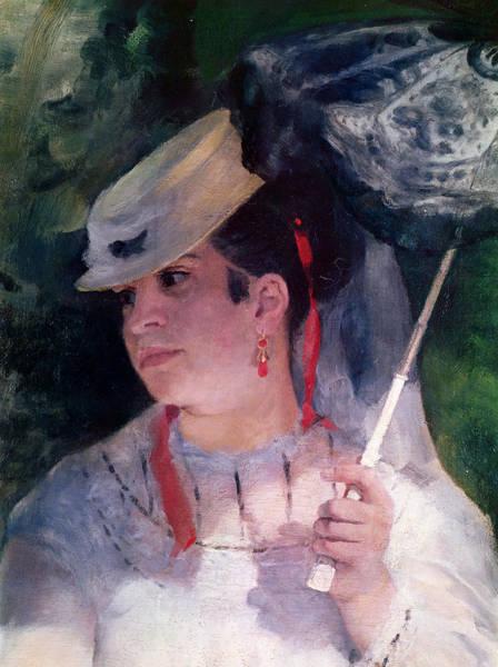 Parasol Painting - Portrait Of Lise by Pierre Auguste Renoir