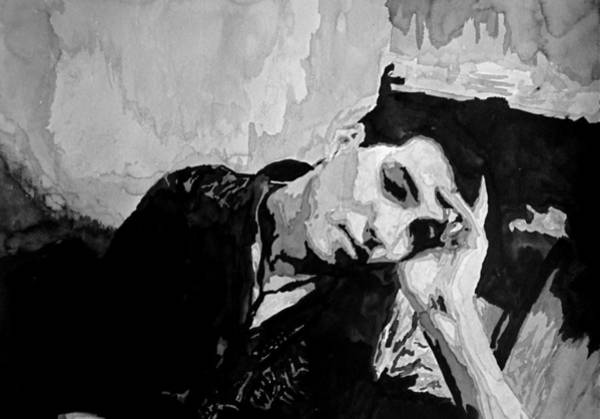 Upper Body Painting - Portrait Of Man Resting by Kelly S