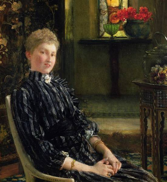 Painting - Portrait Of Mrs Ralph Sneyd by Sir Lawrence Alma-Tadema