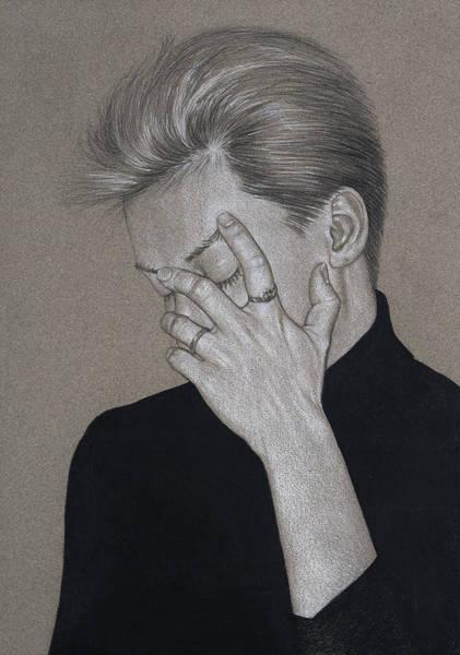 Drawing - Portrait Of P by David Kleinsasser
