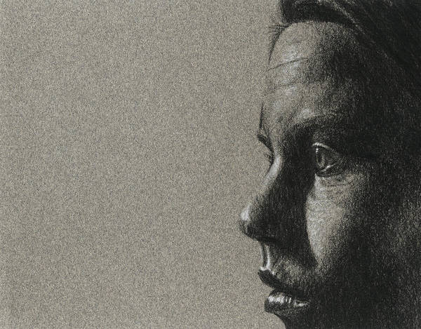 Drawing - Portrait Of S by David Kleinsasser