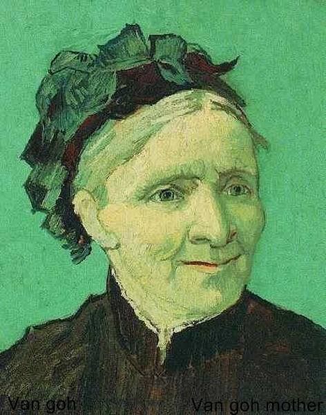 Amateur Digital Art - portrait of Van Gogh mother by Van Gogh