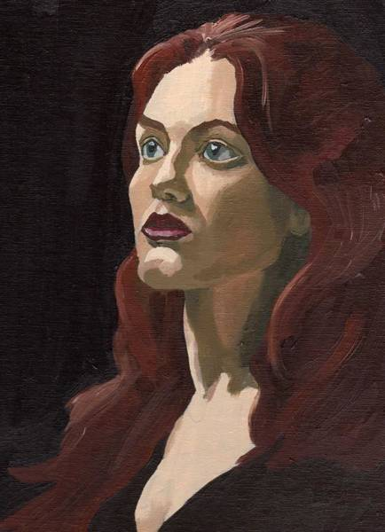 Painting - Portrait Of Virginia P by Stephen Panoushek