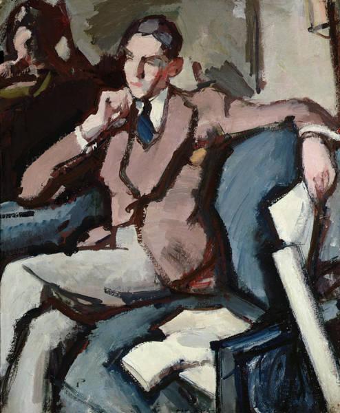 Crossed Legs Painting - Portrait Of Willie Peploe by Samuel John Peploe
