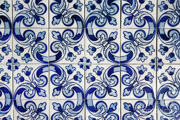 Glazed Tiles Photograph - Portuguese Azulejo by Gaspar Avila