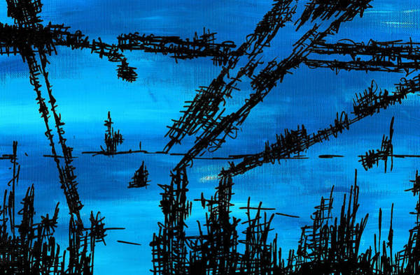 Framing Painting - Post Apocalyptic Inside Building Skyline by Jera Sky