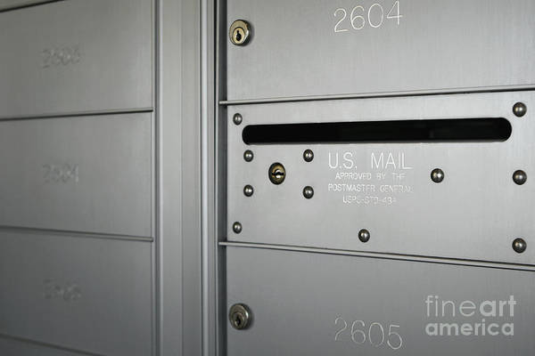 Mail Slot Photograph - Post Office Boxes by Skip Nall