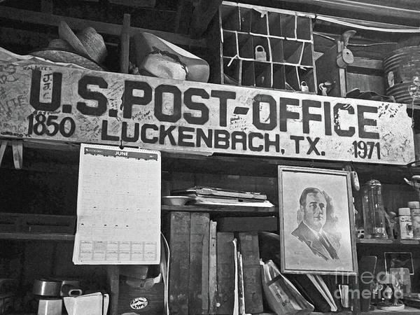 Mail Slot Photograph - Post Office  Luckenbach Texas by Joe Pratt