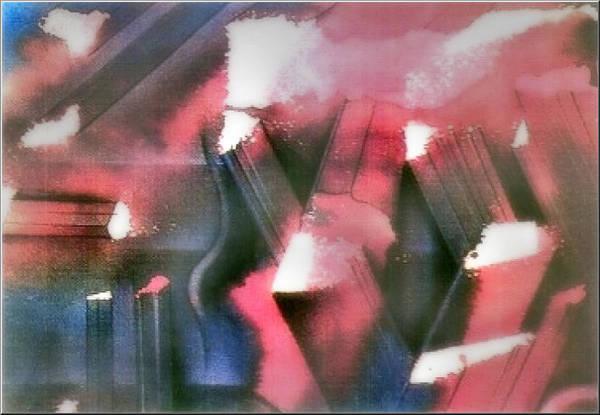Painting - Postscape 1982 by Glenn Bautista