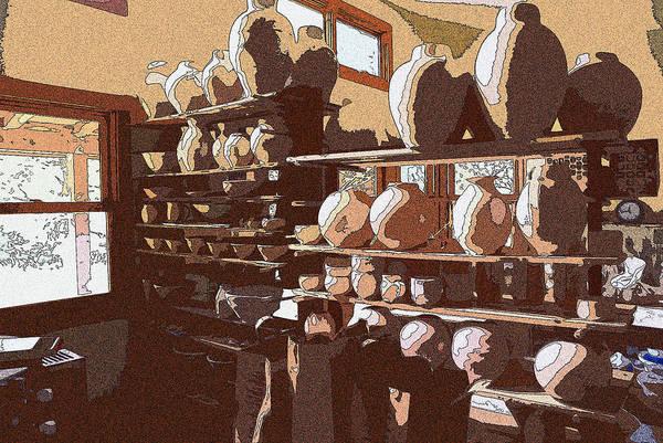 Digital Art - Potter's Shelf by Tim Ernst