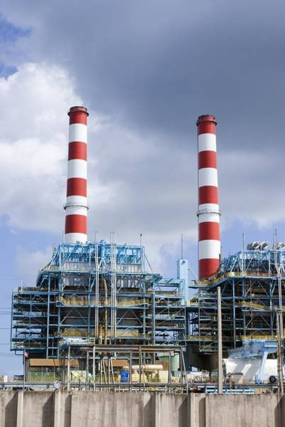 Chimnies Photograph - Power Station, Florida, Usa by Mark Williamson