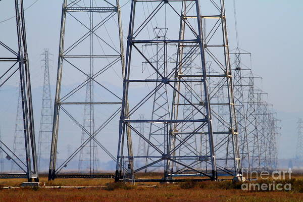 Photograph - Power Transmission Towers . 7d8802 by Wingsdomain Art and Photography