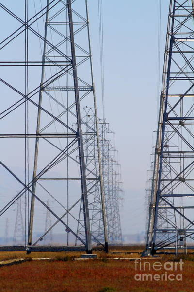 Photograph - Power Transmission Towers . 7d8804 by Wingsdomain Art and Photography
