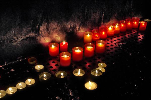 Psalms Photograph - Prague Church Candles by Stelios Kleanthous