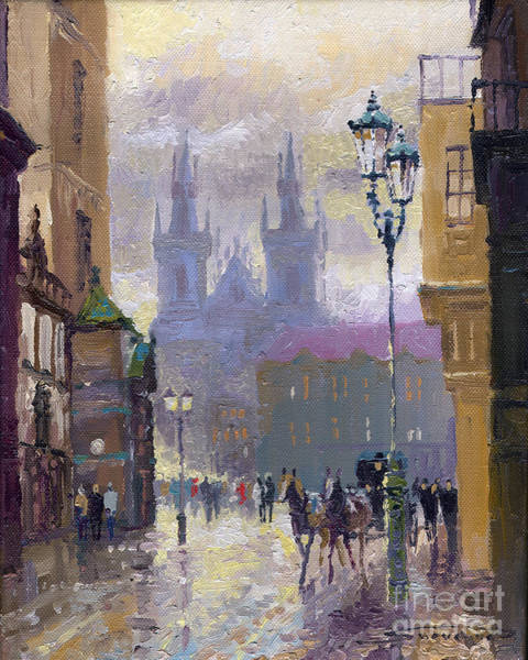 Town Square Wall Art - Painting - Prague Old Town Square  by Yuriy Shevchuk