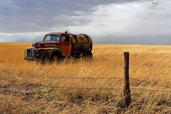 Prarie Photograph - Prarie Truck by Peter Tellone
