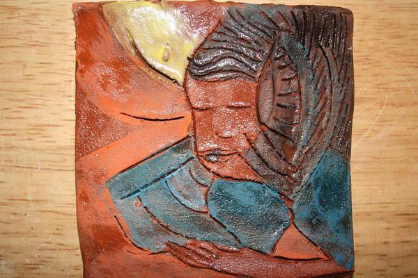 Ceramic Art - Prayer 2 - Tile by Gloria Ssali