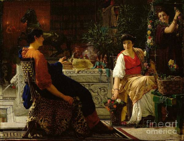 Preparation Painting - Preparations For The Festivities by Sir Lawrence Alma-Tadema