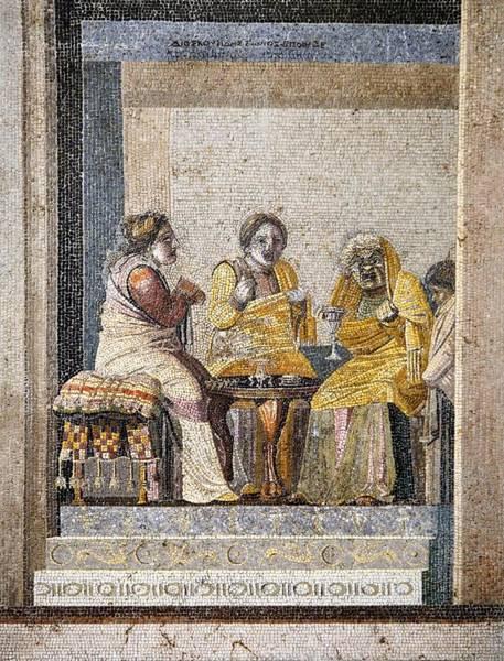Preparing A Love Potion, Roman Mosaic Art Print by Sheila Terry