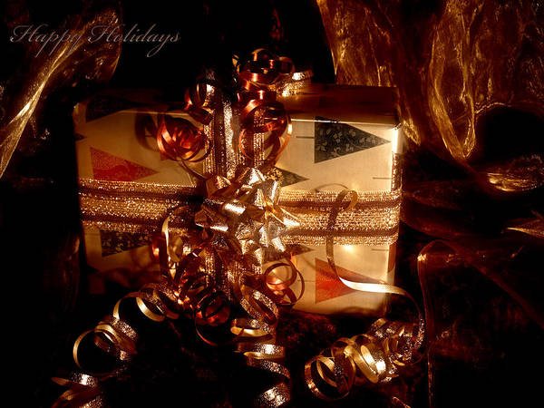 Photograph - Present Holiday Card by Beverly Cash