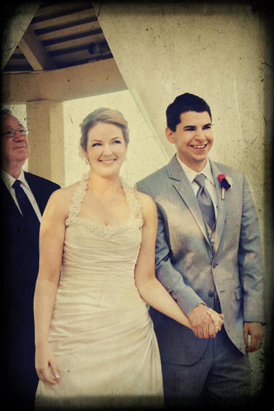 Photograph - Presenting The Newlyweds by Laurie Search