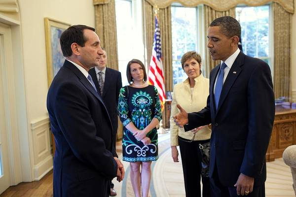 Mike D Photograph - President Barack Obama Meets With Duke by Everett