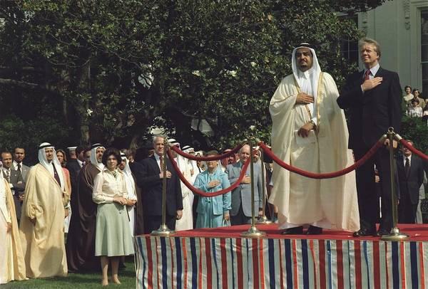 Energy Crisis Photograph - President Carter And Prince Fahd Bin by Everett