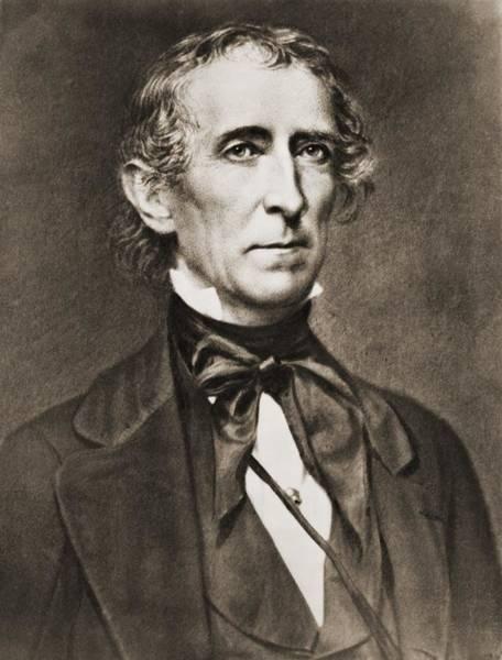 Whig Photograph - President John Tyler 1790-1862 by Everett
