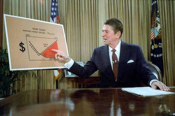 Addressing Photograph - President Reagan Addresses The Nation by Everett