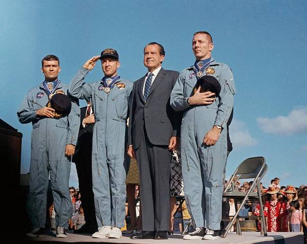 Jim Richards Photograph - President Richard Nixon And The Apollo by Everett