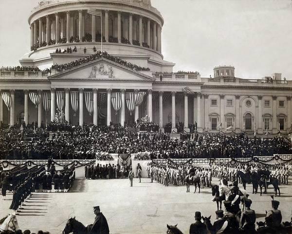 Melville Photograph - President Roosevelt Taking The Oath by Everett