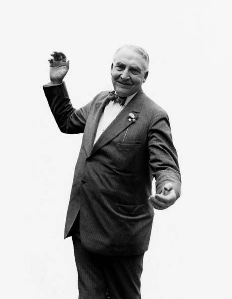 Wall Art - Photograph - President Warren G Harding - C 1920 by International  Images