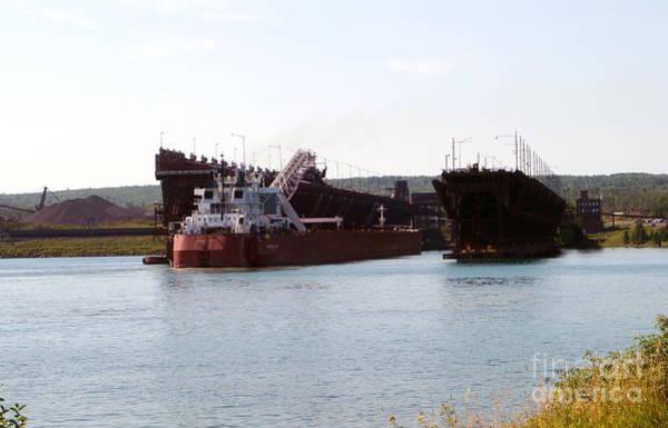 Wall Art - Photograph - Presque Isle Ship Loading by Lori Tordsen