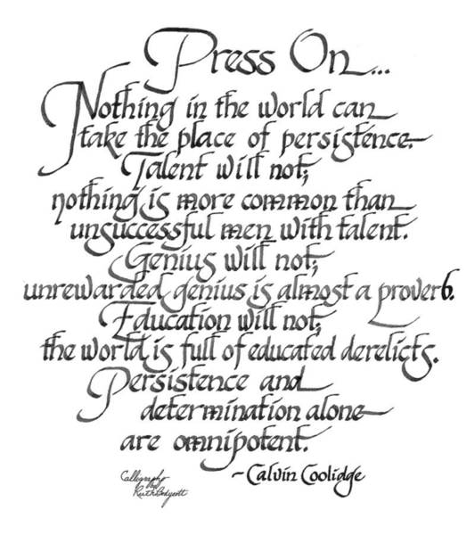 Coolidge Painting - Press On... by Ruth Bodycott