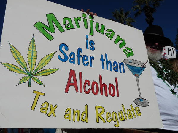 Photograph - Pro Marijuana Sign by Jeff Lowe