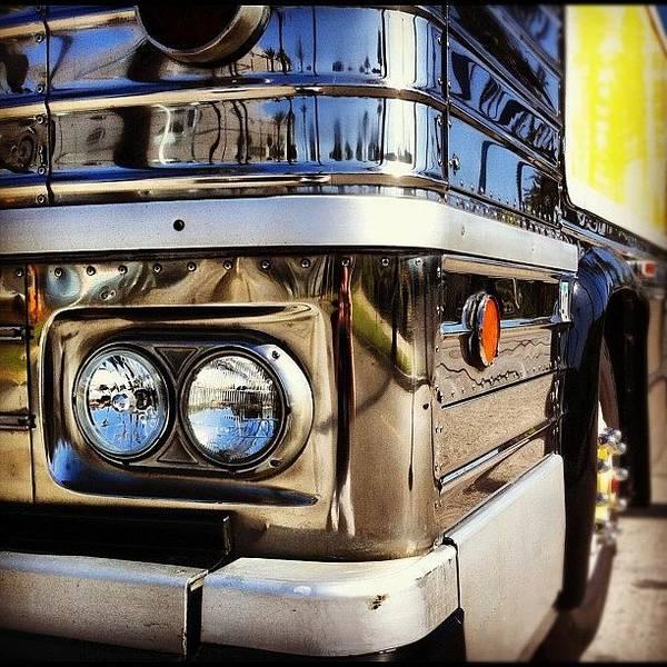 Bus Photograph - #promoigers #bus #headlampart #chrome by Daniel Corson