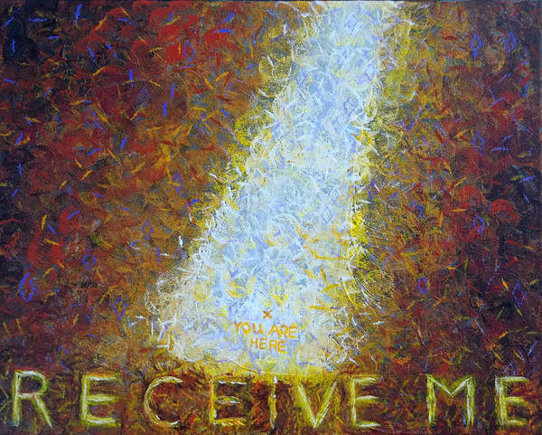 Painting - Prophetic Message Sketch 21 God Meets You Where You Are by Anne Cameron Cutri