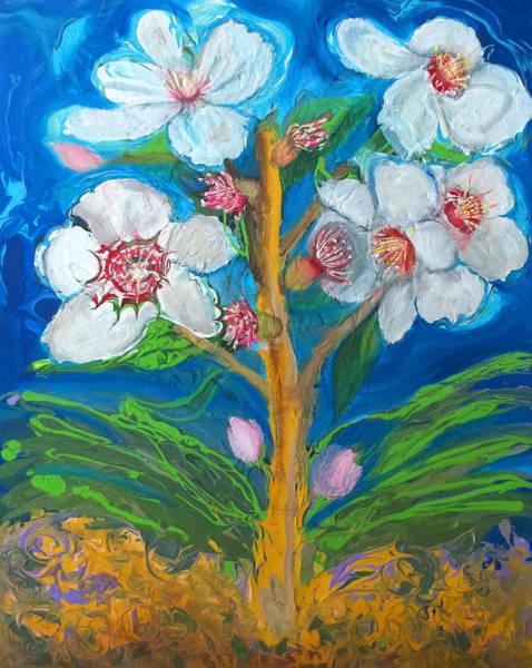 Painting - Prophetic Message Sketch 8 Rod Of Aaron by Anne Cameron Cutri