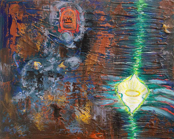 Painting - Prophetic Ms 28 Imperishable Crown Paradigm Shift Tearing The Veil by Anne Cameron Cutri